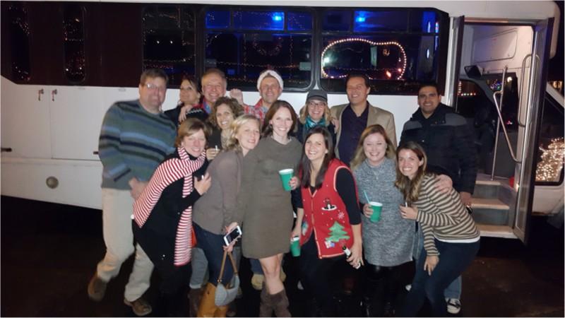 Christmas tour group